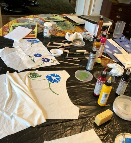 Getting started with Morning Glory stencil and paints