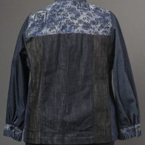 Ruffled Jean Jacket - back view