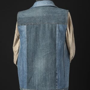 Recycled Denim Vest - back view