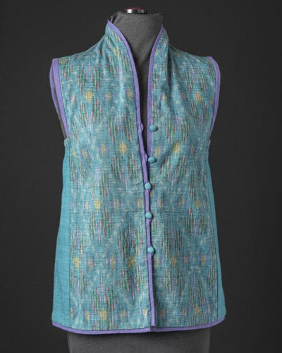 Funnel Neck Ikat Vest from Rain or Shine Variations for the Tabula Rasa Jacket from Fit for Art Patterns