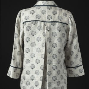 Pleated Linen Shirt - back view from the Tabula Rasa Jacket Rain or Shine Variations from Fit for Art