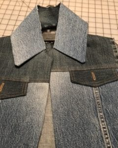 Jean Jacket Variations for the Tabula Rasa Jacket by Fit for Art Patterns, recycled denim vest collar
