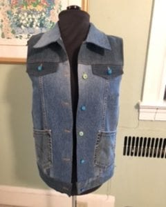 Jean Jacket Variations for the Tabulla Rasa Jacket by Fit for Art Patterns, Recycled Denim Vest with plastic buttons