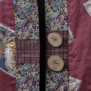 Inseam buttonholes close up