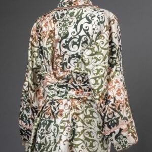Sarah's sashed blouse, back