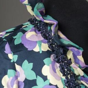 Silk Ruffle band and trim detail