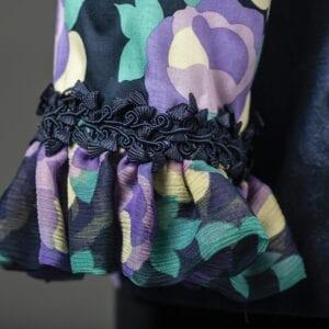 Silk Ruffle cuff detail