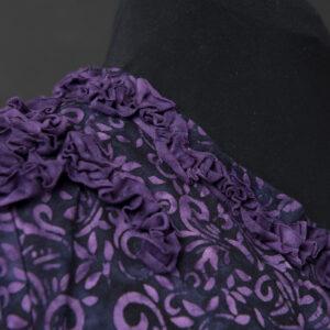 Magic Purple Ruffles, front detail