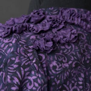 Magic Purple Ruffles, back detail