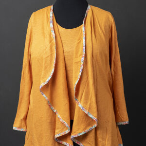 Sunshine Linen Waterfall Cardigan