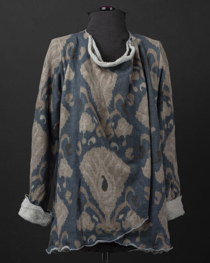 French Terry Waterfall Cardigan