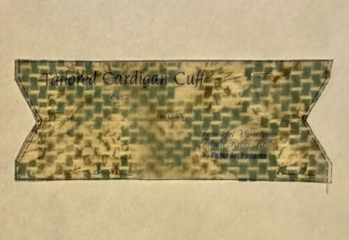 Tailored Cardigan Cuff Pattern