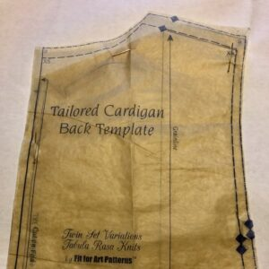 Tailored Cardigan Back Template ready