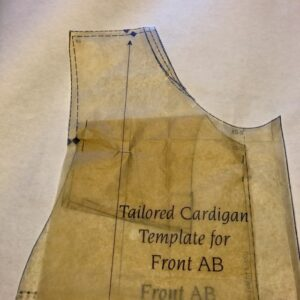 Tailored Cardigan Front Template ready