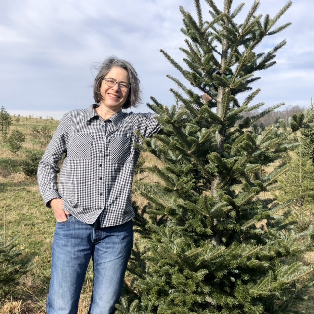 Flannel Shirt at the Tree Farm